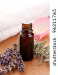 lavendel and parfum bottle with ... | Shutterstock . vector #96311765