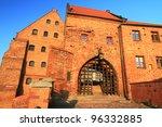 Water Gate to the old town in Grudziadz, Poland - stock photo