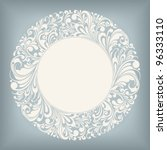 round ornamental frame  vector...