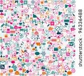 colorfull network background... | Shutterstock .eps vector #96336488
