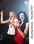 female singers performing   Shutterstock . vector #96342797