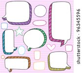speech bubble frames notebook... | Shutterstock .eps vector #96345596