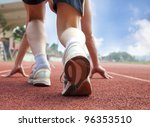 athlete ready for race | Shutterstock . vector #96353510