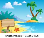 beach theme scenery 2   vector... | Shutterstock .eps vector #96359465
