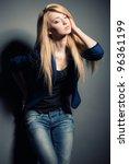 portrait of beautyful oising... | Shutterstock . vector #96361199