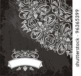 wine card | Shutterstock .eps vector #96365399