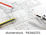 architecture home draw and... | Shutterstock . vector #96366251