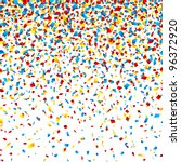 confetti. horizontally seamless ... | Shutterstock .eps vector #96372920