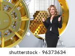 Smiling Woman And Vault With...