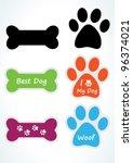 dog sticker set. vector | Shutterstock .eps vector #96374021