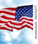 United States Flag Flying...