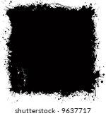 grunge background with splash... | Shutterstock . vector #9637717