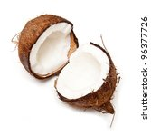 Coconut isolated on a white studio background. - stock photo