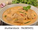 Kaeng Phet - Thai Red Chicken Curry - stock photo