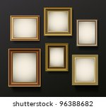 picture frames set on wall | Shutterstock . vector #96388682
