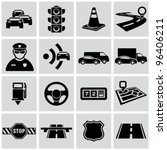 black traffic and driving icons ... | Shutterstock .eps vector #96406211