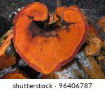 A Heart Shaped Slice Of An...
