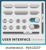 vector user interface elements... | Shutterstock .eps vector #96413237