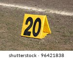 American Football 20 Yard Marker