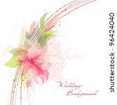 romantic flower background.... | Shutterstock .eps vector #96424040