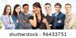 office an interracial team of... | Shutterstock . vector #96433751