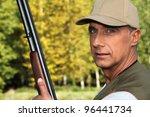 hunter with a shotgun   Shutterstock . vector #96441734