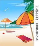 day at the beach | Shutterstock . vector #96444044