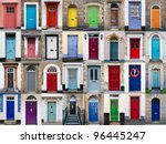a photo collage of 32 colourful ... | Shutterstock . vector #96445247