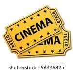 two cinema tickets. vector... | Shutterstock .eps vector #96449825