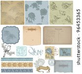scrapbook design elements.... | Shutterstock .eps vector #96453365