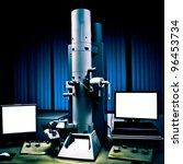 science modern laboratory equipment electron microscope