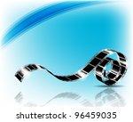 film strip   vector illustration | Shutterstock .eps vector #96459035