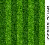 Striped Green Grass Field....
