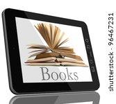book and teblet computer 3d... | Shutterstock . vector #96467231