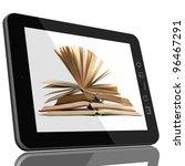 book and teblet computer 3d... | Shutterstock . vector #96467291