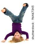beautiful preschool girl child... | Shutterstock . vector #96467345