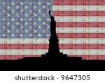 Statue Of Liberty With American ...