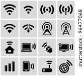 wireless technology  black web... | Shutterstock .eps vector #96477068