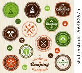 set of retro camping and... | Shutterstock .eps vector #96482675