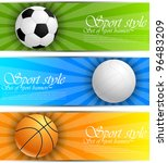 set of sport banners | Shutterstock .eps vector #96483209