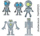 vector illustration of robots | Shutterstock .eps vector #96493925