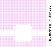 Blank Pink Card. Vector...