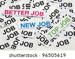 Job offer. Job interview. New job, better job, top job. - stock photo