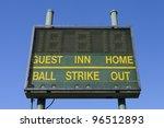 Baseball Score Board With Clea...