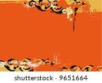 grunge border.   grunged retro... | Shutterstock . vector #9651664