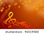 key notes  background | Shutterstock . vector #96519400