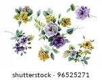 Color Illustration Of Flowers...