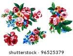 color illustration of flowers...   Shutterstock . vector #96525379