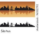 Sao Paulo Skyline In Orange...