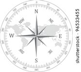 black compass vector... | Shutterstock .eps vector #96533455